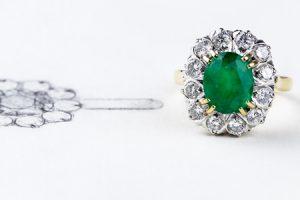 bague pierre verte bijoux jurga paris atelier photo gaya