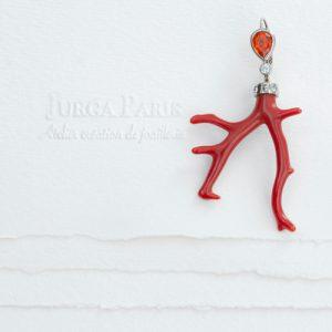 boucle oreille corail rouge bijoux jurga paris atelier photo gaya