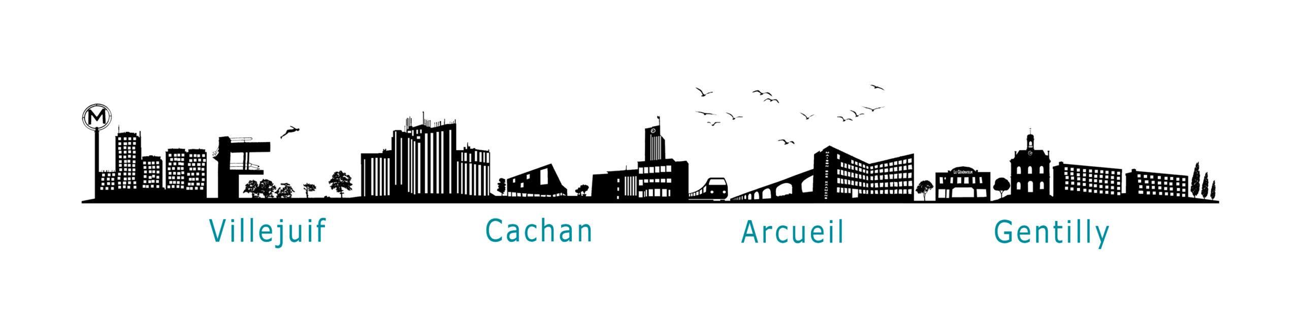 exemple creation graphique bandeau silhouette villes atelier photo gaya