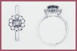 dessin bague bijoux jurga paris atelier photo gaya