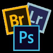 icône logo formation cours photoshop bridge lightroom atelier photo gaya