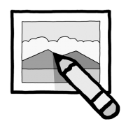 icône logo retouche image restauration